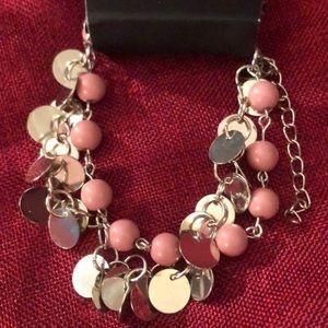 Pink & Silver Dangled Bracelet